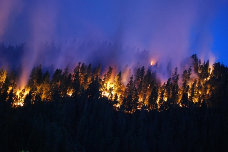 The Happy Camp Complex is made up of two fires sparked by lightning storms on August 11 that have since merged.
