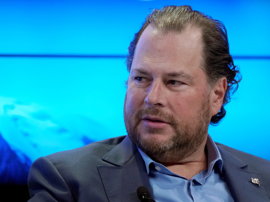 Salesforce CEO Marc Benioff has been under mounting pressure for the company's contract with U.S. Customs and Border Patrol.