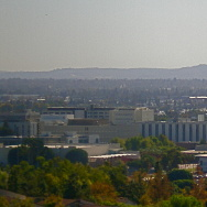 A sky view of Cal State Fullerton.