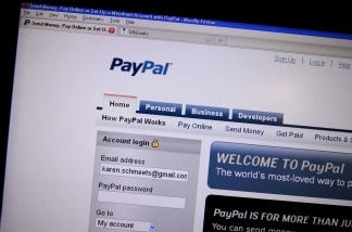 This December 9, 2010 photo shows a screen shot of the online payment site PayPal.