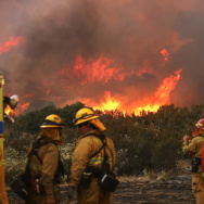 Border Fire San Diego California