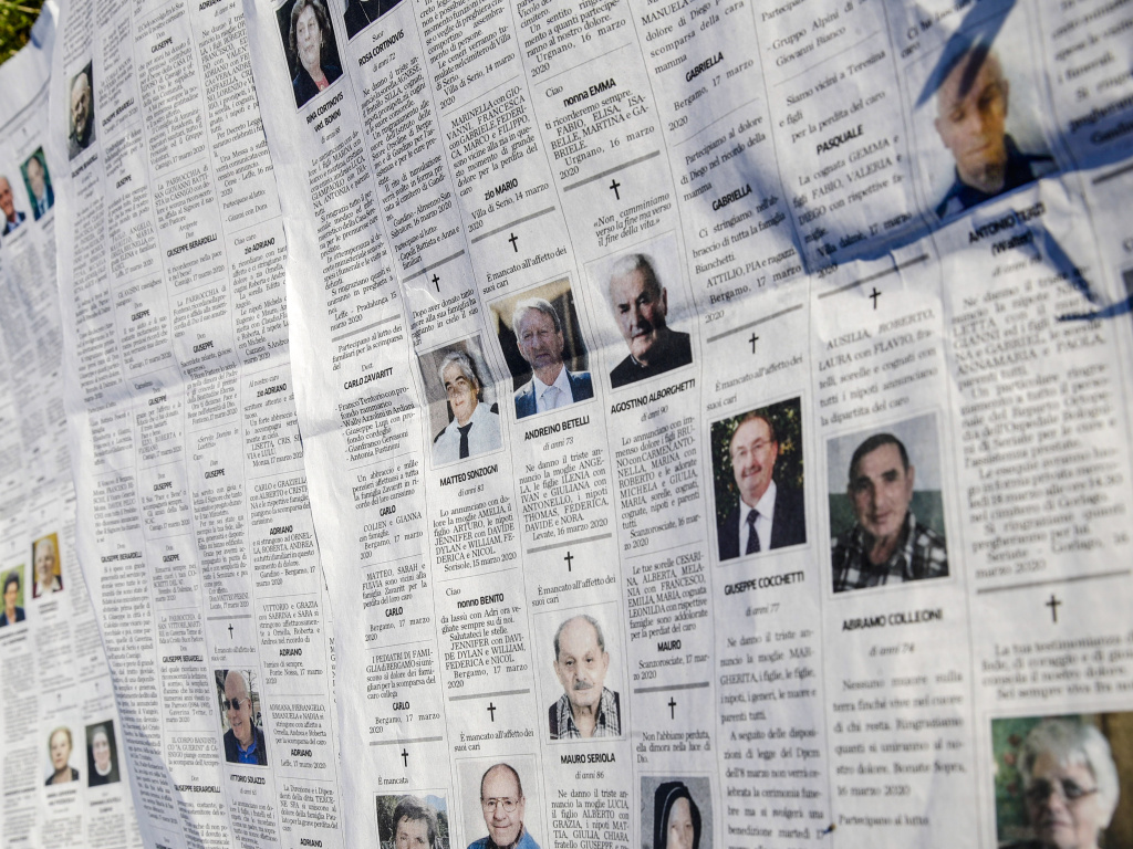 The obituaries section of local newspaper Eco di Bergamo stretched several pages long earlier this week at the heart of the hardest-hit province in Italy's hardest-hit region of Lombardy.