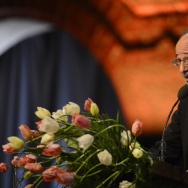 The 2012 Nobel Economic Sciences Prizewinner US Alvin E Roth delivers a speech during the Nobel Banquet, a traditional dinner, after the Nobel Prize awarding ceremony at the Stockholm City Hall, on December 10, 2012.