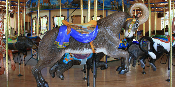 A photo of the Tom Mankiewicz Conservation Carousel that will open Oct. 27, 2011 at the Los Angeles Zoo.
