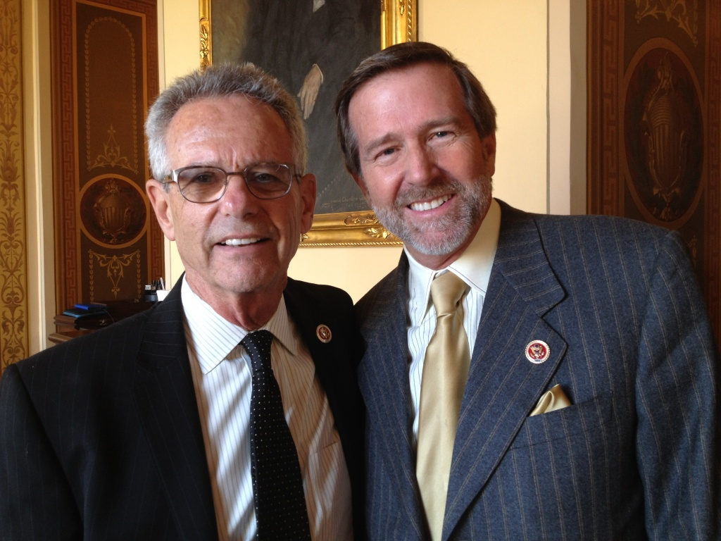left to right: Rep. Alan Lowenthal (D-Long Beach) and Rep. John Campbell (R-Irvine).