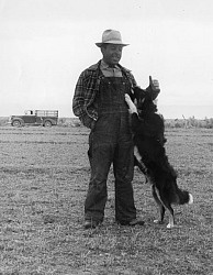 In this circa 1935 photo, a Basque shepherd poses with his sheep dog. Kevin Roderick says there used to be a lot of Basques around Encino, as you can tell from some of the street names.
