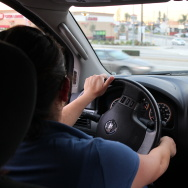 "Newly licensed driver Ramona recalls how she'd react in the past when she saw a police car. ""My legs were shaking,"" she said. She is one of more than 25,000 people in California who have received driver's licenses so far under AB 60, a new state law that allows immigrants without legal immigration status to legally drive."