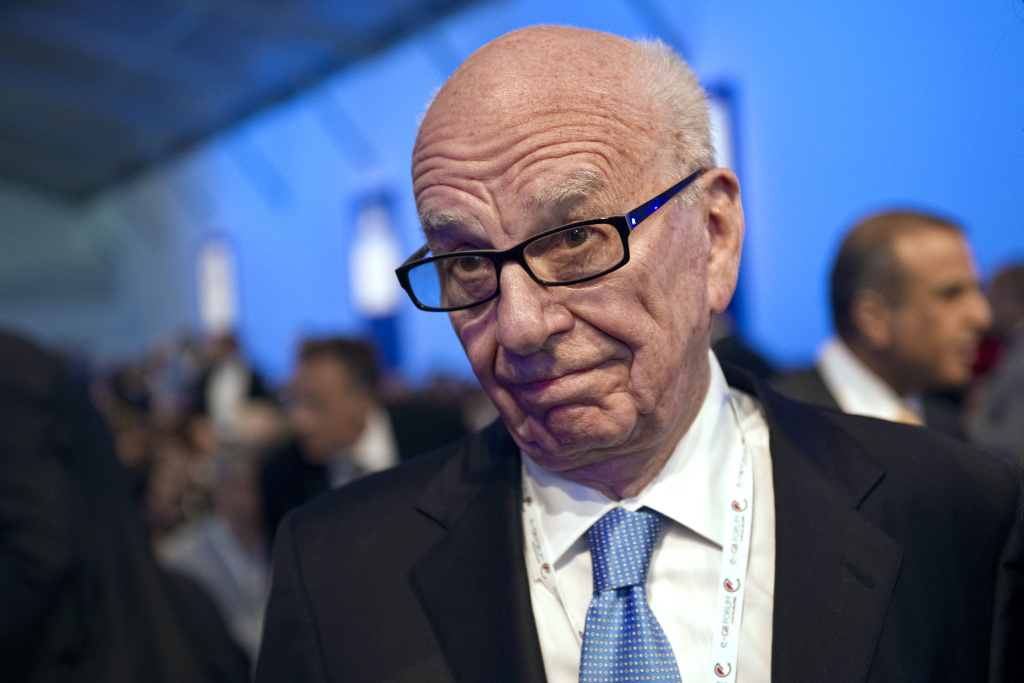 Ruppert Murdoch, chairman and CEO of News Corporation, attends the e-G8 meeting gathering Internet and information technologies leaders and experts at the Tuileries gardens in Paris on May 24, 2011 Images)