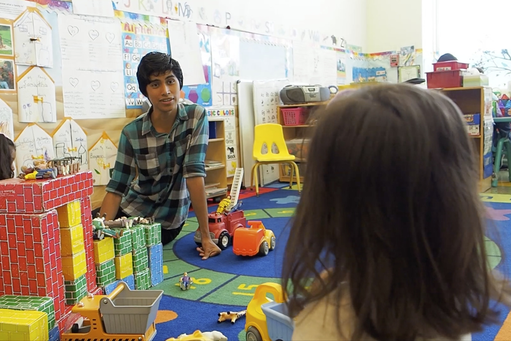 Early childhood educators like Omar Flores worked closely with one preschooler during their time in the Exceptional Populations Certificate program.