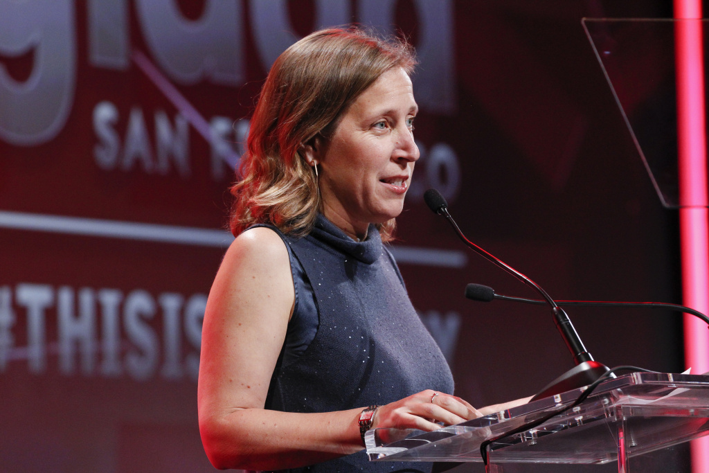 Susan Wojcicki, CEO of YouTube, took to the stage at the company's NewFronts presentation in New York City.