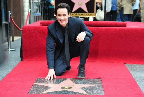 John Cusack receives his star on the Hollywood Walk of Fame on April 24, 2012 in Hollywood, California.