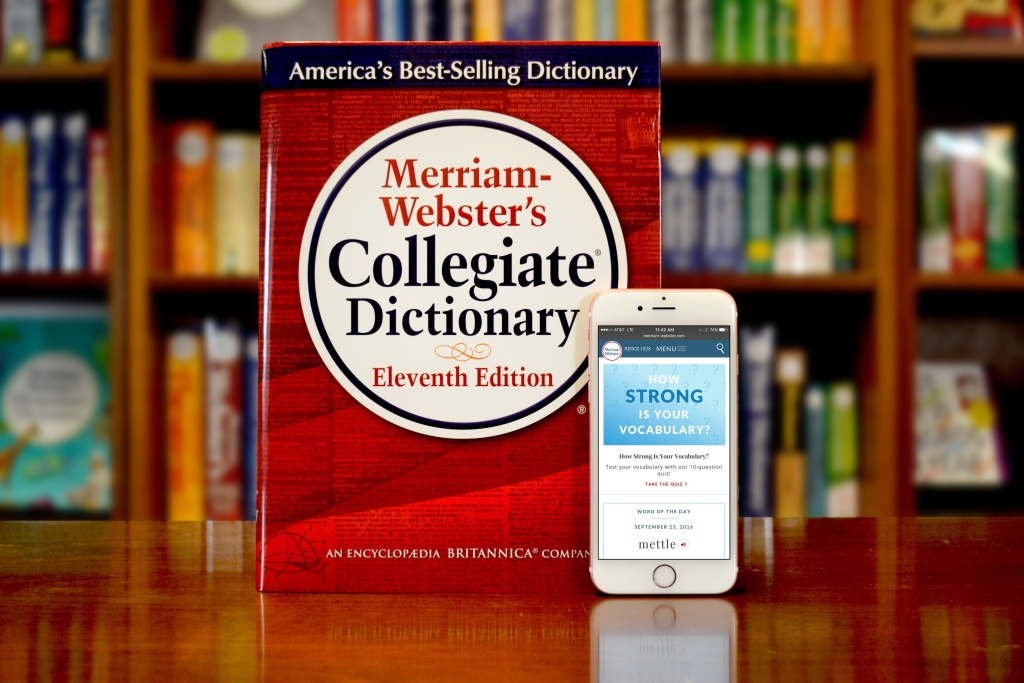 In this handout image provided by Merriam-Webster, Merriam-Webster's Collegiate Dictionary and mobile website are displayed September 23, 2016 in Springfield, Massachusetts