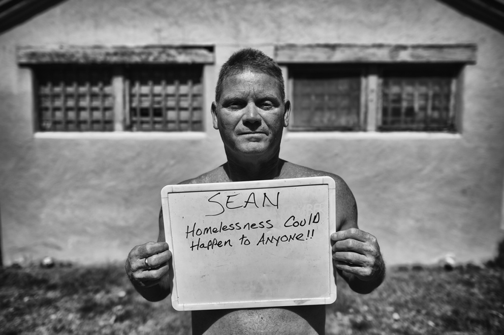 "(Sunland-Tujunga) Sean: ""Homelessness could happen to anyone!!"" Sean Coorough, 51, grew up in Tujunga homeless for almost two years. Sean wants a job and a better life."