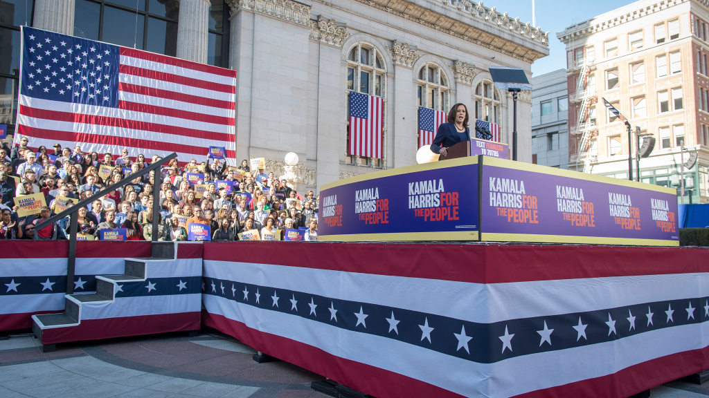 Sen. Kamala Harris will hold a distinct advantage in the 2020 California primary: she's run and won three statewide elections, and has high name recognition among voters in the state. Harris launched her presidential campaign in Oakland on Jan. 27, 2019.