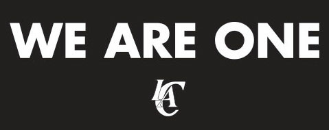 "Los Angeles Clippers ""We Are One"" logo published on their website Tuesday, April 29, 2014."