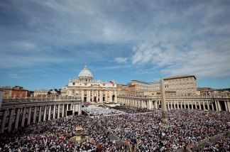 A general view of St. Peter's Square during the John Paul II Beatification Ceremony held by Pope Benedict XVI on May 1, 2011, in Vatican City, Vatican.