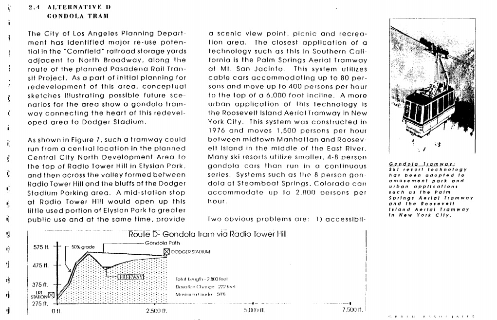 L.A. County Transportation Commission Gondola Plan from 1990.