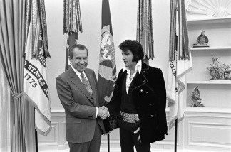 President Richard Nixon and Elvis Presley.