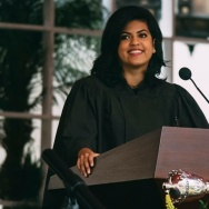 Rini Sampath, USC's student body president, is seen.
