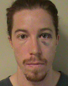 Shaun White booking photo after the extreme athlete was allegedly involved in some extreme drinking that led to vandalism charges.