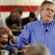 "At an event in New Hampshire Thursday, Bush said there ""ought to be common ground"" between Kim Davis being able to ""act on her conscience"" and for gay couples to be allowed to be married."