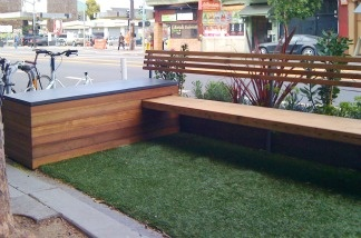 Parklet at Freewheel Bike Shop on Valencia Street in San Francisco