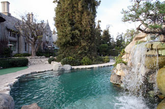 A view of Playboy Magazine publisher Hugh Hefner's property, the Playboy Mansion, as seen on 11 January 2007 in Beverly Hills.