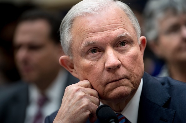 US Attorney General Jeff Sessions listens during a House Judiciary Committee hearing on November 14, 2017, in Washington, DC, on oversight of the US Justice Department.