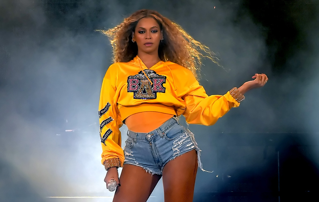 Beyonce Knowles performs onstage during 2018 Coachella Valley Music And Arts Festival Weekend 1 at the Empire Polo Field on April 14, 2018 in Indio.