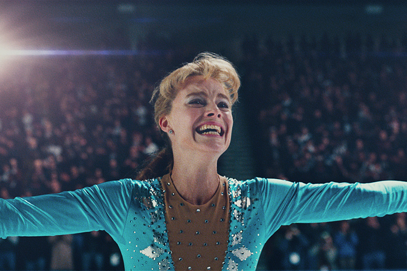 Actress Margot Robbie plays figure skater Tonya Harding in