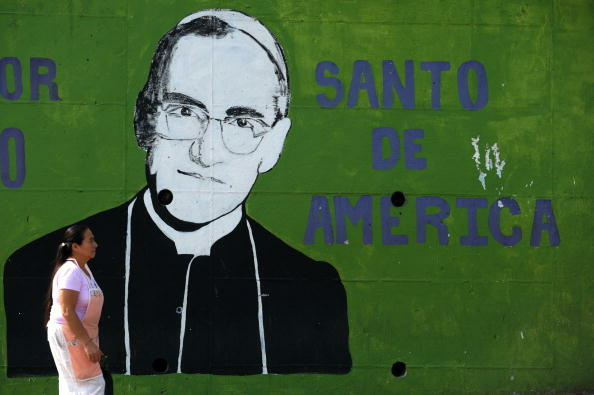 A statue of monsignor Oscar Arnulfo Romero located in downtown San Salvador, on April 22, 2013.