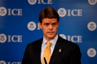 U.S. Immigration and Customs Enforcement director John Morton during an October 2010 news conference at which he announced a record number of deportations, a hallmark of the Obama administration's enforcement policies. Morton has announced he will resign at the end of July.