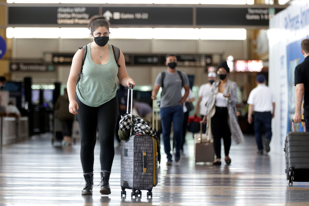 WASHINGTON, DC - MAY 25:  Reagan Washington National Airport May 25, 2021 in Arlington, Virginia. According to AAA, more than 37 million Americans are expected to travel, either by driving, flying or catching a train, over the Memorial Day weekend this year.