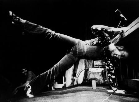 Elton John performs at the Troubadour on Aug. 25, 1970.