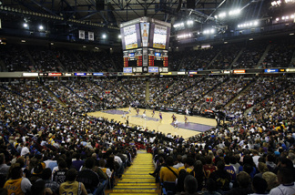 The Sacramento Kings play the Los Angeles Lakers during the first half of an NBA basketball game in Sacramento, Calif., Wednesday, April 13, 2011.