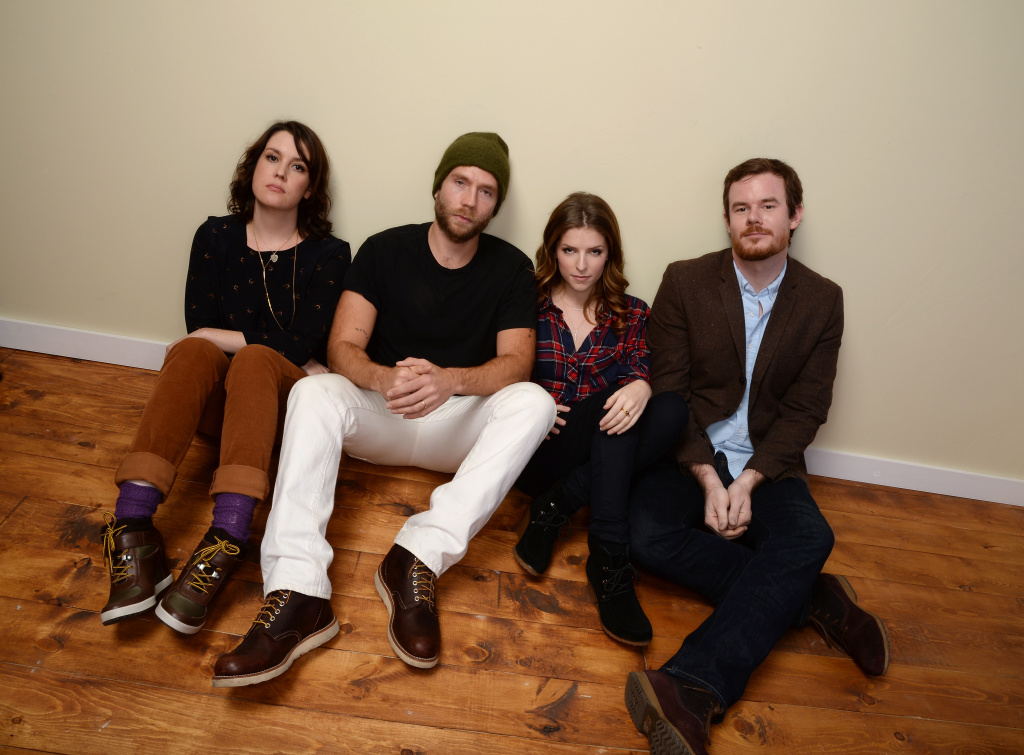 (L-R) Actors Melanie Lynskey, Mark Webber, Anna Kendrick, and director Joe Swanberg pose for a portrait during the 2014 Sundance Film Festival at the Getty Images Portrait Studio at the Village At The Lift on January 18, 2014 in Park City, Utah.