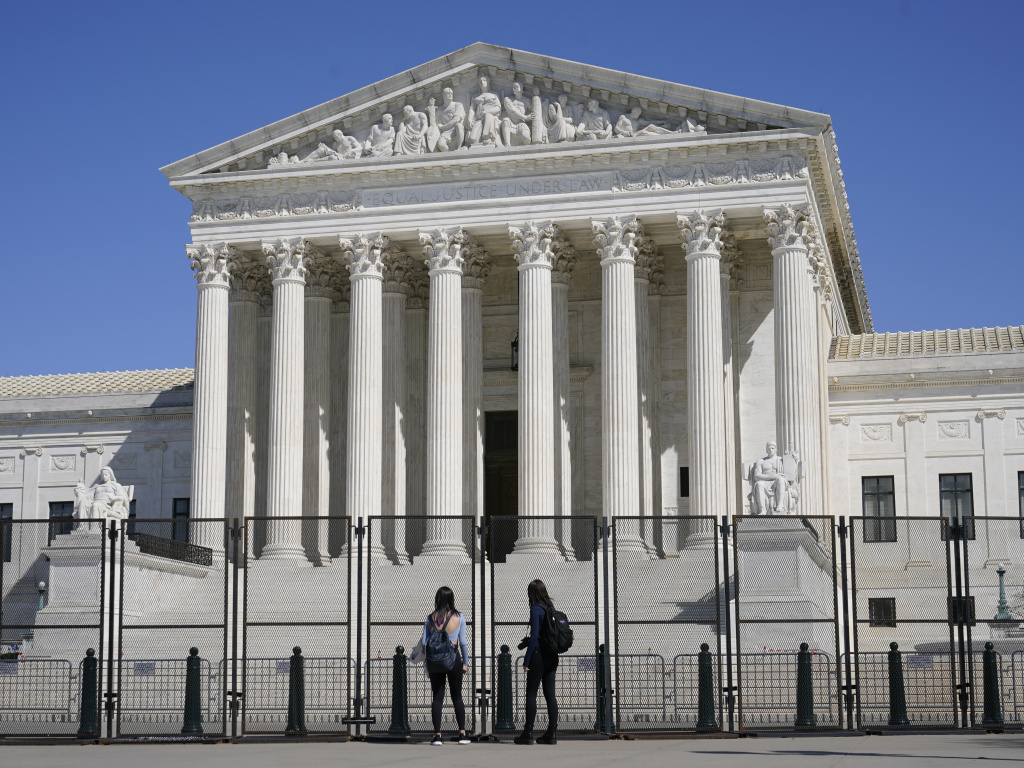 The U.S. Supreme Court heard arguments in a case testing whether police may enter a person's home and seize guns without a warrant in order to safeguard the homeowner from potential harm.