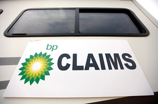 A BP mobile claims office is seen on August 4, 2010 in Chalmette, Louisiana.