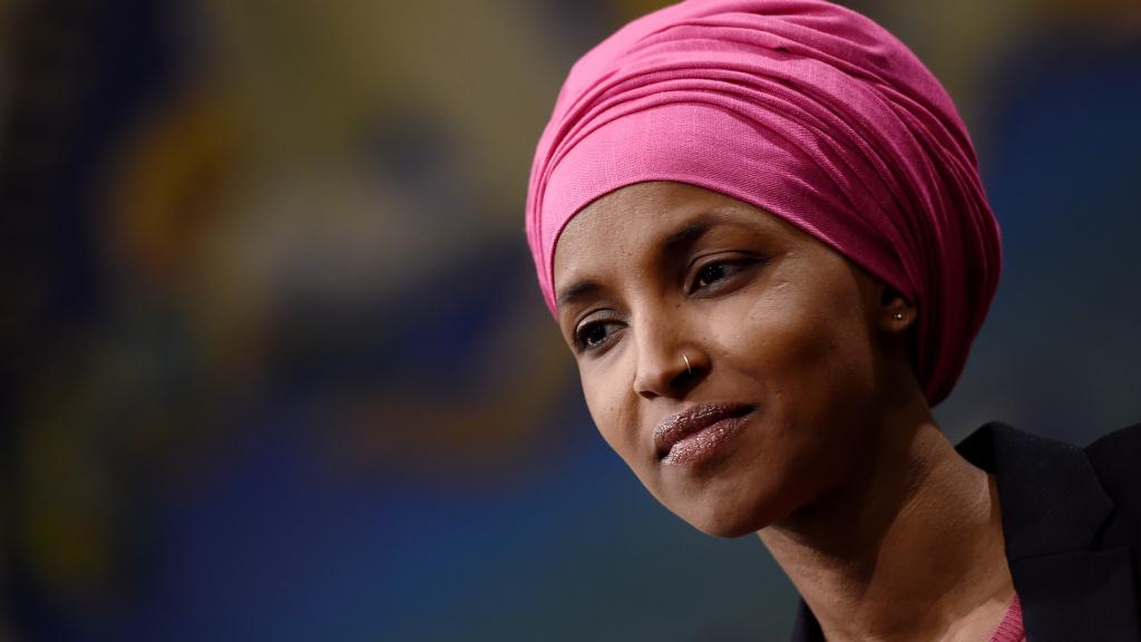 Rep. Ilhan Omar, D-Minn., attends a press conference on Feb. 26 on Capitol Hill. Omar tells NPR the progressive left