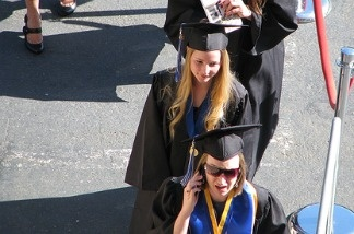 Students at Cal State San Marcos as they graduate.