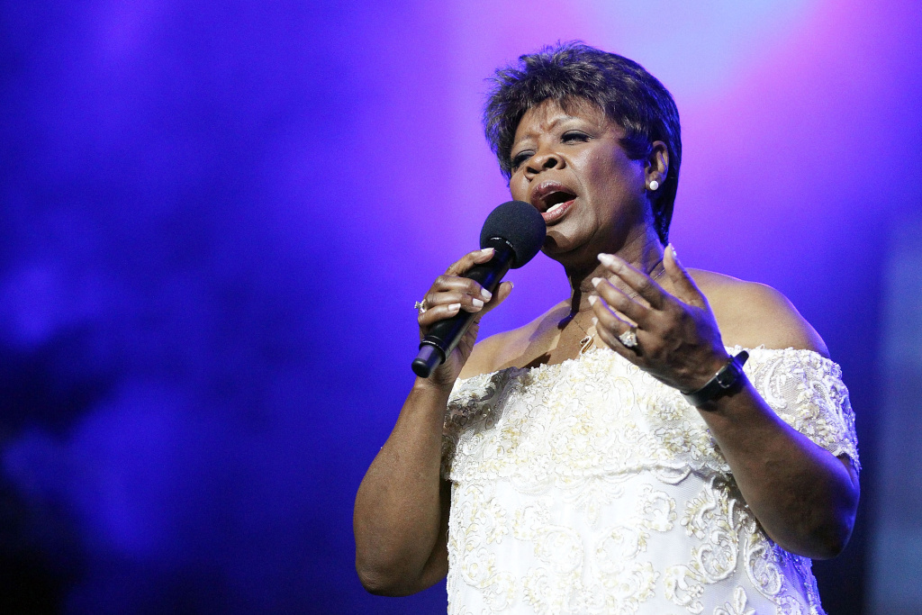 Irma Thomas performs on stage during day four of the Bluesfest Music Festival at Tyagarah Tea Tree Farm on April 24, 2011 in Byron Bay, Australia.