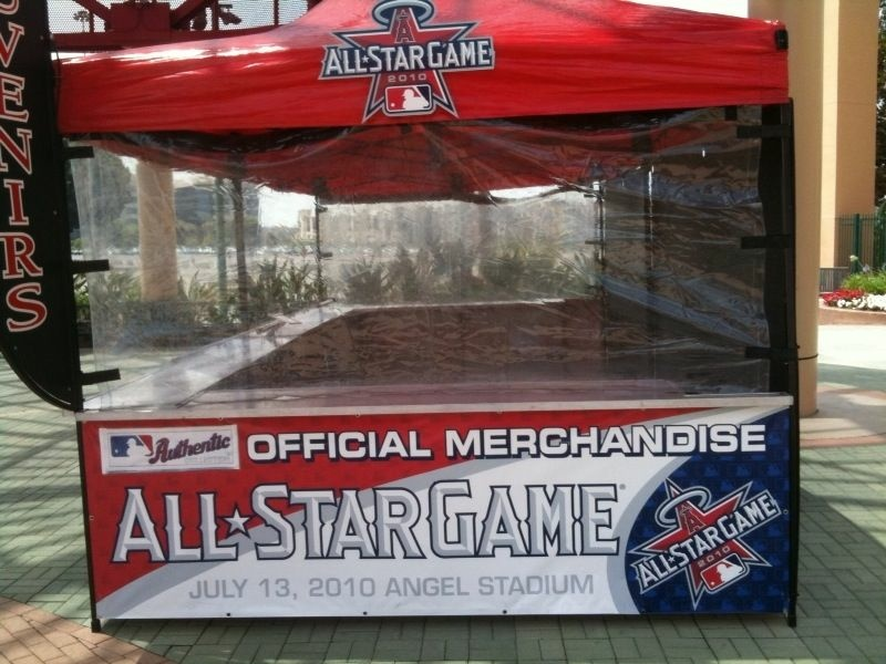 The official MLB merchandise stand at Angels Stadium in Anaheim