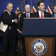 "The Group Of Senators Dubbed The ""Gang Of 8"" Hold News Conference On Immigration Legislation"