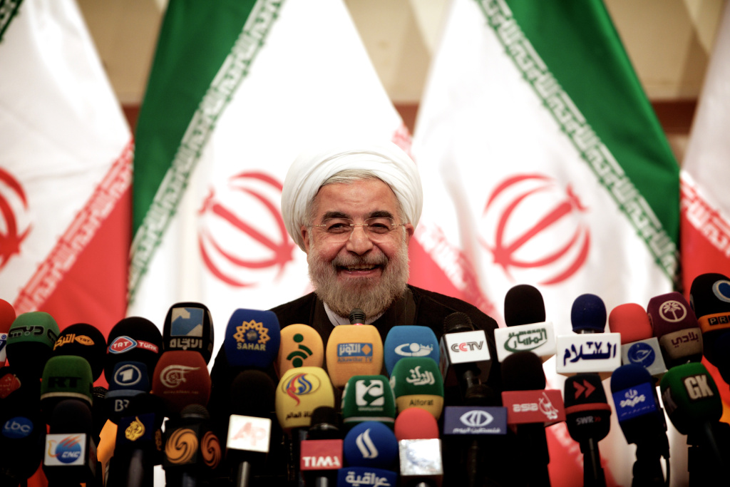 Iranian president-elect Hassan Rowhani speaks during a press conference in Tehran on June 17, 2013. Rowhani expressed hope that Iran can reach a new agreement with major powers over its disputed nuclear program, saying a deal should be reached through more transparency and mutual trust.