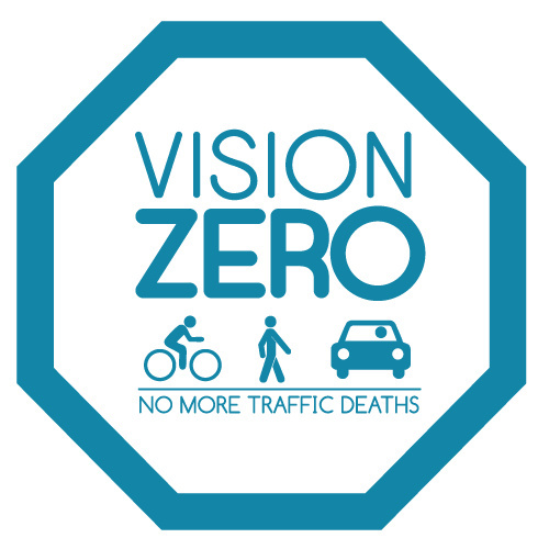 Logo for San Francisco Vision Zero initiative, launched in 2014.