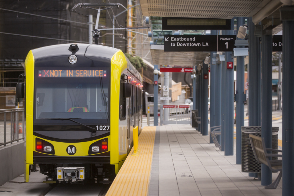 File: Members of the Metro board of directors take a sneak peek ride from the Culver City to Downtown Santa Monica Stations on the new Expo Line extension on Monday morning, May 9, 2016.