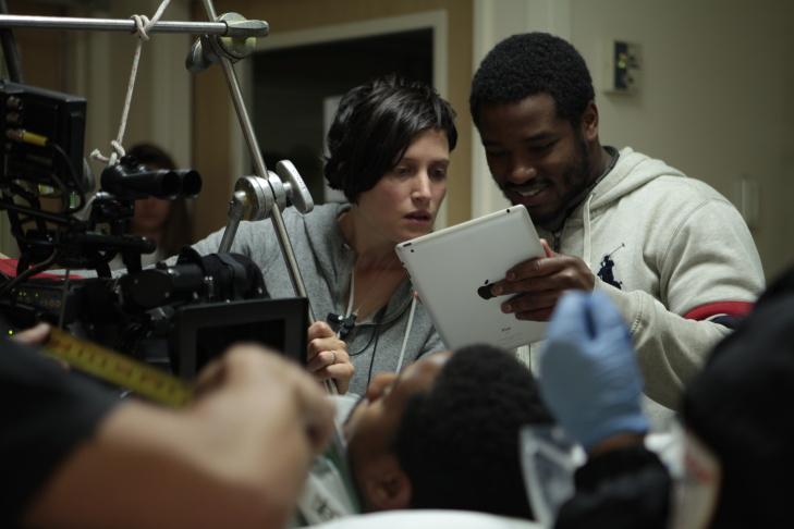 Cinematographer Rachel Morrison on the set of