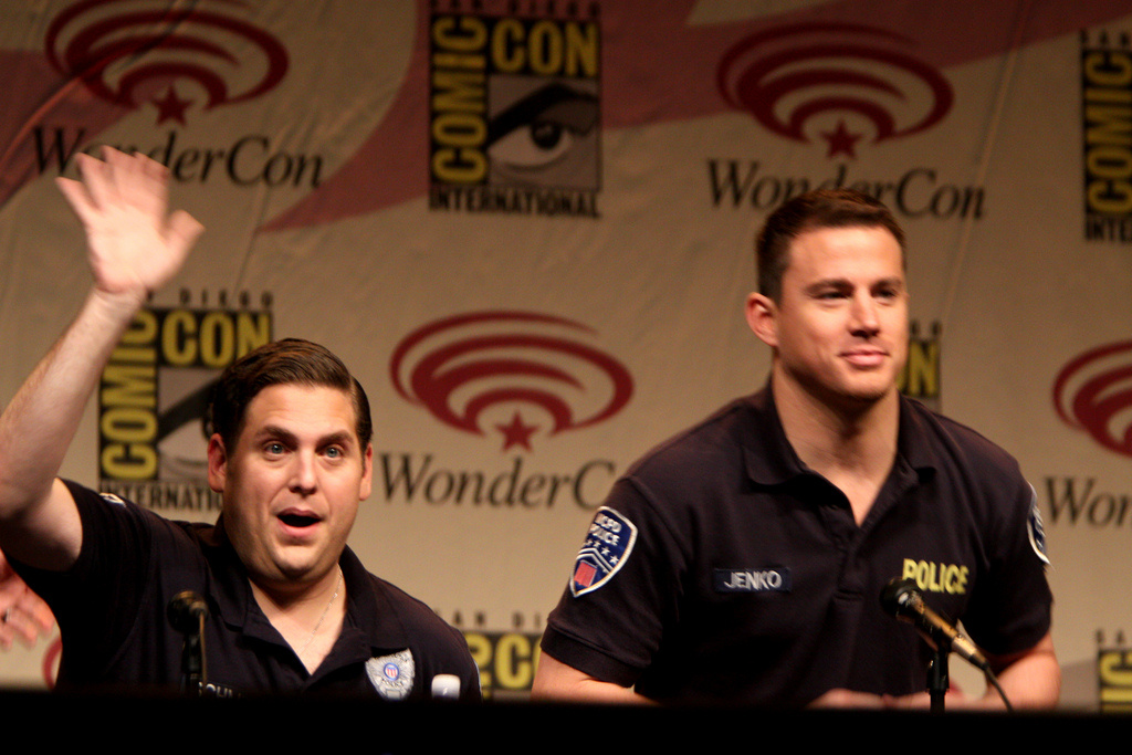 Jonah Hill and Channing Tatum Jonah Hill speaking at the 2012 WonderCon in Anaheim, California.