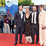 (L-R) Actors Michael Fassbender, Alicia Vikander, director Derek Cianfrance and Shannon Plumb attend the premiere of 'The Lights Between Oceans' during the 73rd Venice Film Festival in Venice, Italy.