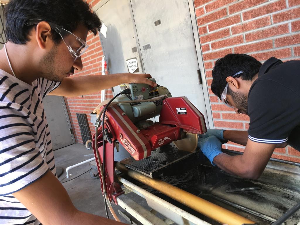 Graduate engineering students Manoj Sampangi Ram, left, and Skanda Rai are originally from India and study at California State University, Long Beach on student visas.